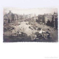 Postales: 37 VALENCIA PLAZA DEL CAUDILLO, CIRCULADA, FECHADA 2 DE NOVIEMBRE DE 1955. Lote 131130960