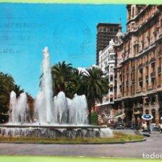 Postales: ALICANTE. 22 FUENTE MONUMENTAL Y EXPLANADA DE ESPAÑA. GARCÍA GARRABELLA. USADA CON SELLO. COLOR. Lote 131435678