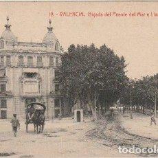 Postales: POSTAL VALENCIA BAJADA DEL PUENTE DEL MAR Y LLANO DEL REMEDIO EDITOR THOMAS BARCELONA - -C-3. Lote 131534986