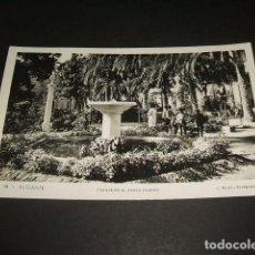 Postales: ALICANTE FUENTE EN EL PASEO RAMIRO. Lote 132042290