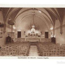 Postales: VALENCIA.- BALNEARIO DE BELLUS, INTERIOR CAPILLA. Lote 132238774