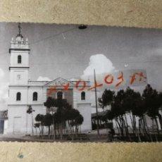 Postales: POSTAL PUEBLO DE ALGEMESÍ. VALENCIA. IGLESIA DEL PILAR. FOTO TALENS. Lote 132320882