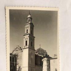Postales: NOVELDA (ALICANTE) POSTAL. MONUMENTO A JORGE JUAN Y TORRE PARROQUIAL. EDITA: EDICIONES ARRIBAS. Lote 133288783