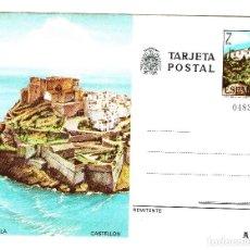 Postales: PEÑISCOLA TARJETA POSTAL - ERMITA DE LA MAGDALENA - ESCUDO DE LA TRANSICIÓN - NO CIRCULADA - FNMT. Lote 134753738