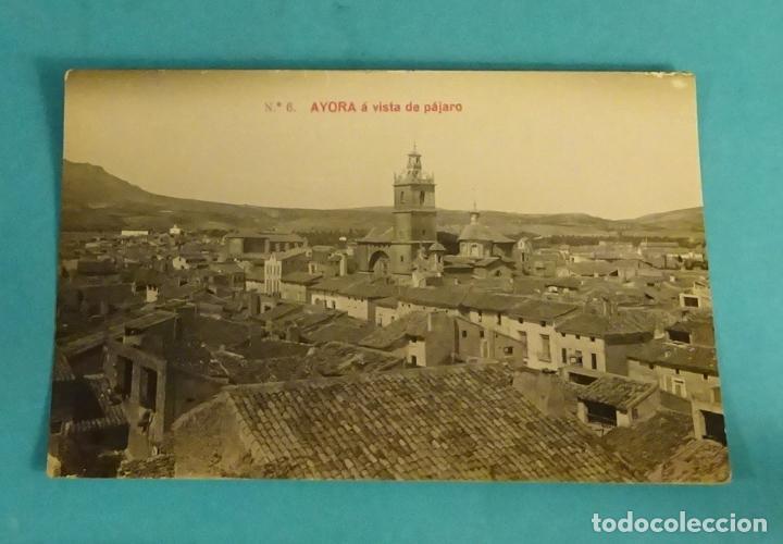 TARJETA POSTAL Nº 6 AYORA A VISTA DE PÁJARO. GEOGRAFÍA DEL REINO DE VALENCIA - 5.774 (Postales - España - Comunidad Valenciana Antigua (hasta 1939))