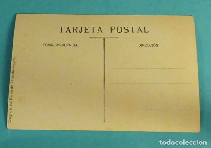 Postales: TARJETA POSTAL Nº 6 AYORA A VISTA DE PÁJARO. GEOGRAFÍA DEL REINO DE VALENCIA - 5.774 - Foto 2 - 134769090