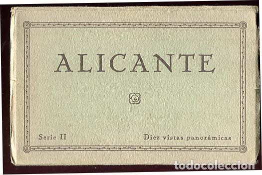 ALICANTE BLOC COMPLETO CON 10 POSTALES EDICIONES GUTENBERG (Postales - España - Comunidad Valenciana Antigua (hasta 1939))