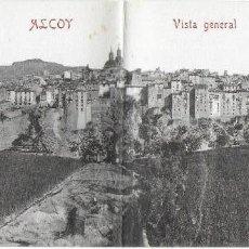 Postales: P- 8640. POSTAL PANORAMICA DE ALCOY, VISTA GENERAL. . Lote 135233566