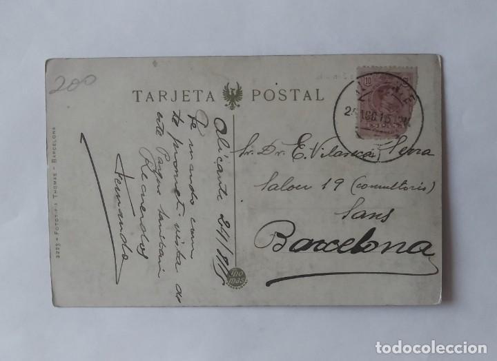 Postales: Alicante. Parque sanitario. Postal antigua circulada - Foto 3 - 135237526