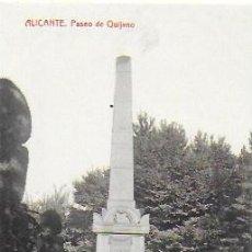 Postales: P- 8771. POSTAL ALICANTE, PASEO DE QUIJANO.. Lote 135797566