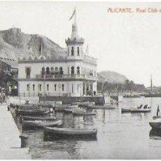 Postales: P- 8773. POSTAL ALICANTE, REAL CLUB DE REGATAS.. Lote 135797822