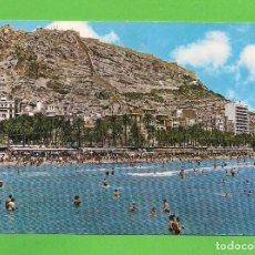 Cartes Postales: POSTAL - ALICANTE - PLAYA DEL POSTIGUET - CASTILLO DE SANTA BARBARA -. Lote 136170438