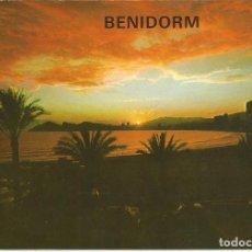 Postales: [POSTAL] PUESTA DE SOL. BENIDORM (ALICANTE) (CIRCULADA). Lote 137112258