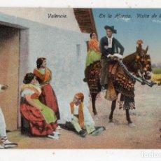 Postales: VALENCIA. EN LA HUERTA. VISITA DE LOS NOVIOS.. Lote 137641866