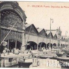 Postales: VALENCIA. PUERTO. DEPOSITO DE MERCANCÍAS. Lote 137668182