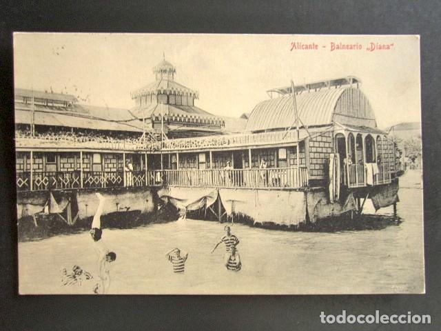 POSTAL ALICANTE. BALNEARIO DIANA. CIRCULADA. AÑO 1911. (Postales - España - Comunidad Valenciana Antigua (hasta 1939))