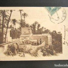 Postales: POSTAL ALICANTE. UN PAISAJE DE ELCHE. COLECCIÓN CÁNOVAS, SERIE E. PRIMERA EDICIÓN. CIRCULADA. 1902. Lote 138161862