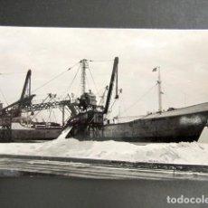 Postales: POSTAL ALICANTE. TORREVIEJA. PUERTO Y CARGADERO DE SAL. . Lote 138162138
