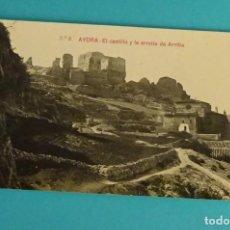 Postales: POSTAL Nº 2 EL CASTILLO Y LA ERMITA DE ARRIBA. AYORA. GEOGRAFÍA DEL REINO DE VALENCIA 5775. Lote 138557950
