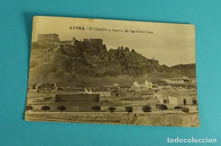 POSTAL AYORA. EL CASTILLO Y BARRIO DE LAS CAROLINAS. CARTE POSTALE (Postales - España - Comunidad Valenciana Antigua (hasta 1939))