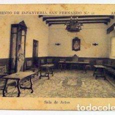 Postales: POSTAL ALICANTE REGIMIENTO DE INFANTERÍA N. 11, SALÓN DE ACTOS CUARTEL BENALUA, ESCRITA. Lote 139182506