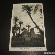 Postales: ELCHE HUERTO DEL CHOCOLATE IGLESIA SANTA MARIA. Lote 139238998