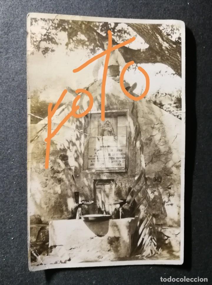 ANTIGUA FOTOGRAFIA POSTAL.PUEBLO DE BENAFER.FUENTE DE LOS NOGALES.ALTO PALANCIA.PROVINCIA CASTELLÓN. (Postales - España - Comunidad Valenciana Antigua (hasta 1939))