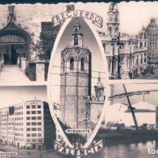 Postales: POSTAL RECUERDO DE VALENCIA - 5 VISTAS - DARVI - ESCRITA. Lote 139882714