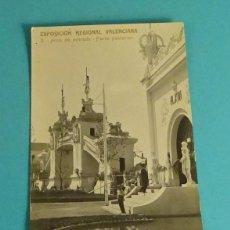 Postales: EXPOSICIÓN REGIONAL VALENCIANA - 3. ARCO DE ENTRADA. PARTE POSTERIOR. CARTE POSTAGE. PARTIDA. Lote 140616146