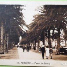 Postales: ALICANTE. 54 PASEO DE GOMIZ. ANIMADA. ROISIN. NUEVA. BLANCO/NEGRO. Lote 141160773