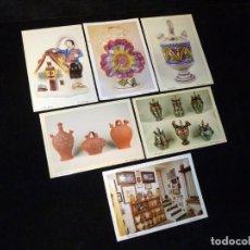 Postales: LOTE DE 6 POSTALES VILLENA (ALICANTE), MUSEO DEL BOTIJO. SIN CIRCULAR. Lote 141444546