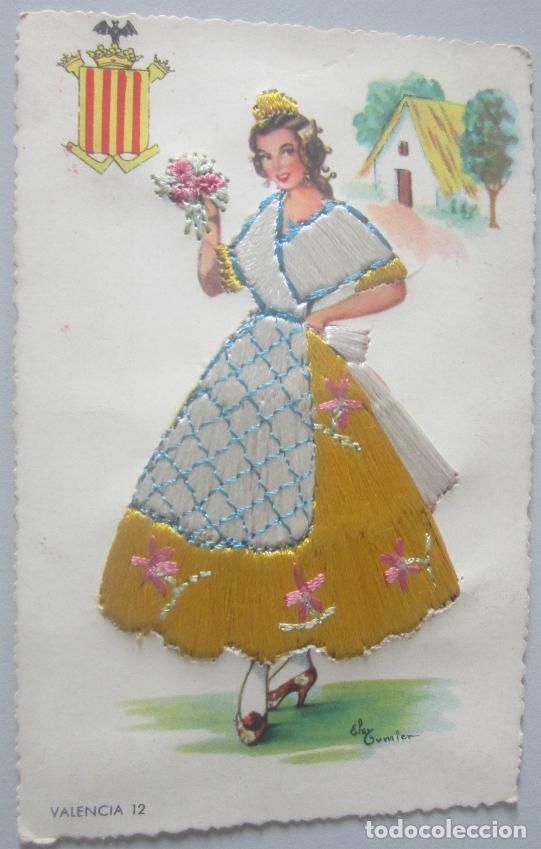 POSTAL BORDADA VALENCIA (Postales - España - Comunidad Valenciana Antigua (hasta 1939))