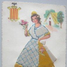 Postales: POSTAL BORDADA VALENCIA. Lote 142300486