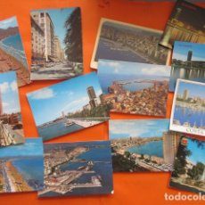 Postales: LOTE DE 25 POSTALES ALICANTE JAVEA SANTA POLA VILLENA CALPE BUSOT DENIA . Lote 142413846