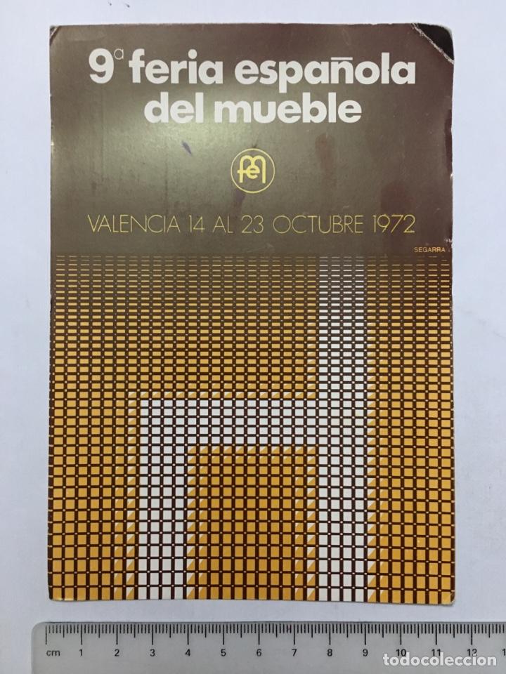 POSTAL. 9A. FERIA ESPAÑOLA DEL MUEBLE. VALENCIA. OCTUBRE, 1972. (Postales - España - Comunidad Valenciana Moderna (desde 1940))