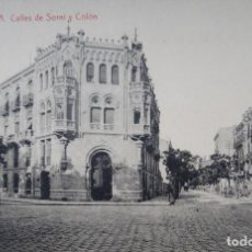 Postales: VALENCIA - CALLE DE SORNI Y COLON. Lote 142879366
