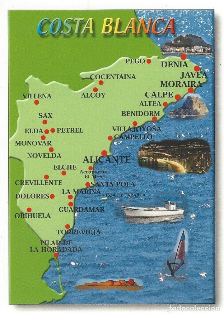 Mapa Costa Comunidad Valenciana.Costa Blanca Mapa
