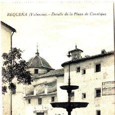 Postales: REQUENA (VALENCIA) - DETALLE DE LA PLAZA DE CANALEJAS. Lote 143554342
