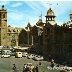 Postales: VALENCIA - 1089 MERCADO CENTRAL Y SANTOS JUANES. Lote 143652342