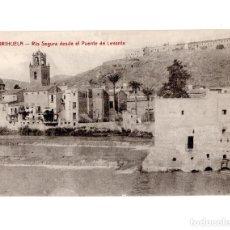 Postales: ORIHUELA.(ALICANTE).- RIO SEGURA DESDE EL PUENTE DE LEVANTE. Lote 144766898