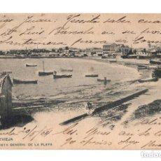 Postales: TORREVIEJA.(ALICANTE).- VISTA GENERAL DE LA PLAYA. Lote 146403450