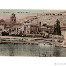 Postales: ORIHUELA.(ALICANTE).- COLEGIO SAN MIGUEL. Lote 146631130