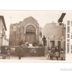 Postales: FOGUERES DE SAN CHUAN.(ALICANTE).- 1930. CASA SANCHEZ - POSTAL FOTOGRÁFICA. . Lote 146633482