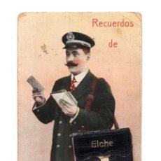 Postales: ELCHE.(ALICANTE).- RECUERDOS. CARTERO CON POSTALES MINIS. Lote 146635050