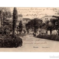 Postales: ALICANTE.- PLAZA DE ISABEL II - ED. VICENTE IBORRA.(RARA). Lote 146672002