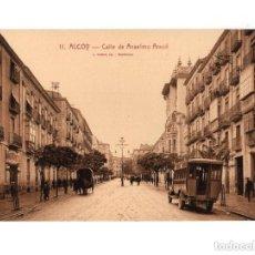 Postales: ALCOY.(ALICANTE).- CALLE DE ANSELMO ARACIL. Lote 146871418