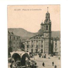 Postales: ALCOY.(ALICANTE).- PLAZA DE LA CONSTITUCIÓN. Lote 146872990