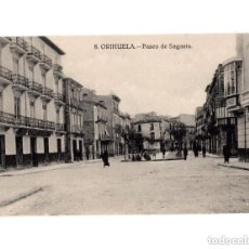 Postales: ORIHUELA.(ALICANTE).- PASEO DE SAGASTA. Lote 146874854
