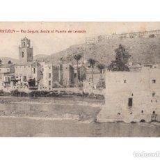 Postales: ORIHUELA.(ALICANTE).- RIO SEGURA DESDE EL PUENTE DE LEVANTE. Lote 146875046