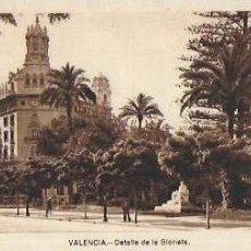Postales: P- 9022. POSTAL VALENCIA, DETALLE DE LA GLORIETA. . Lote 147003190